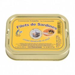 Filets de sardines à la crème de moutarde et au miel